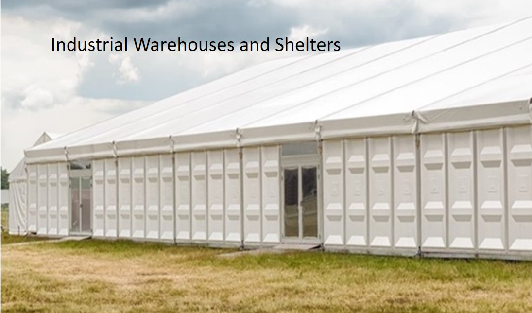 Big Industrial Warehouses and Shelters